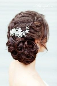 свадебные прически с плетением фото
