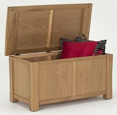 Vida Living Breeze Oak Blanket Box