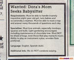 Nanny Application: Your Mother-in-Law... whatever you do, do NOT ...