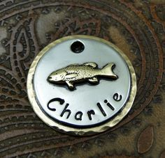 Hey, I found this really awesome Etsy listing at https://www.etsy.com/listing/130371206/personalized-fish-dog-id-tag-dog-tag