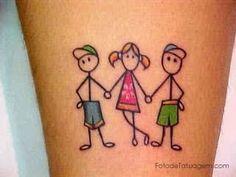 boneco palito tattoo - Pesquisa Google
