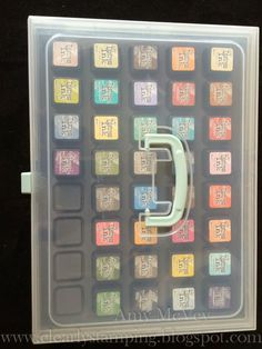 Clearly Stamping: Mini Distress Ink Storage using CTMH Organizers---UPDATED