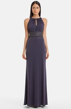JS Boutique Embellished Cutaway Jersey Gown | Nordstrom Lots of bridesmaid dresses (short and long)  here..lots of coupon codes at this store. Check deal sites.