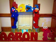 Sesame Street photo frame prop for pictures with guests