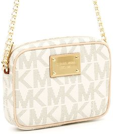 Michael Kors Jet Set Signature PVC Crossbody Purse