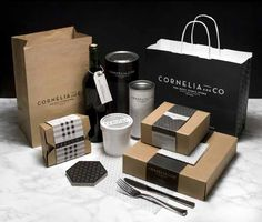 Cornelia and Co restaurant and cafe house products packaging