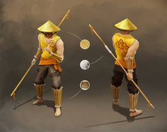 The monk fighter, character design
