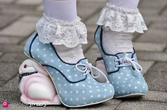 OMG. Rabbit wedge shoes - from Japan. Very Alice in Wonderland. Great Cosplay idea....
