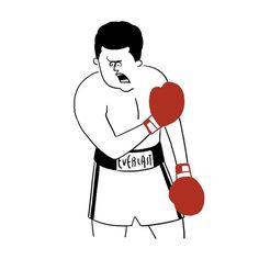 Muhammad Ali #muhammadali #boxing #boxer #everlast #olympic #america #sports #professionalboxing #seijimatsumoto #松本誠次 #art #artwork #draw #drawing #illustration #illust #illustrator #design #graphic #イラスト #モハメドアリ #絵 #ボクシング