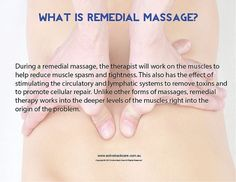 What is Remedial Massage? #health #wellness