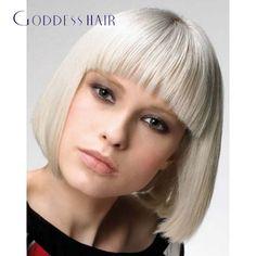 Funky look Short Blonde Hairstyles Bob Hairstyles With Bangs, Bob Haircut With Bangs, Fringe Hairstyles, Blonde Hairstyles, Bob Bangs, Bob Haircuts, Blunt Bangs, Hair Bangs, 2015 Hairstyles