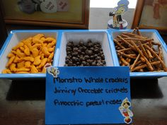 Pinocchio snack ideas