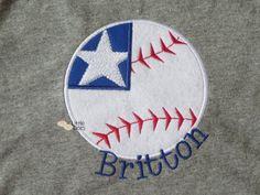 Baseball Flag  Patriotic  Applique Shirt by LittleDotsBoutique