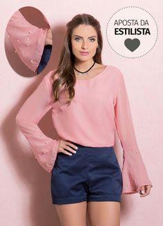 R$119,99 - Quintess blusa de chiffon GG - Posthaus
