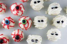 Spooky Sweets: Eyeball and Mummy Cake Balls via Brit + Co.