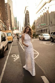 Exquisite details, fine fabrics and bold cuts make up the 2017 Berta Bridal Collection. Wait till you see these luxurious wedding dresses, trust you are going to want one. Wedding Dress Low Back, Lace Wedding Dress, Luxury Wedding Dress, Bridal Wedding Dresses, Lace Dress, White Dress, High Neck Wedding Dresses, Blush Bridal, Bridal Shoes