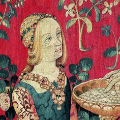 tenture de La Dame à la licorne : le goût Vers 1500 Paris, musée de Cluny – musée national du Moyen Âge © RMN-Grand Palais / Michel Urtado