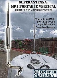 SUPERANTENNA - MP1 - PORTABLE VERTICAL - Signal Power. Going Everywhere.