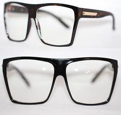 XXXL Nerd Brille Fun Spaß Streber Klarglas Hornbrille schwarz silber gold 159 in Kleidung & Accessoires, Herren-Accessoires, Sonnenbrillen & Brillen   eBay