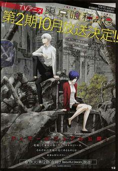Tokyo Ghoul:re season 2 sẽ mắt tháng 10 năm nay