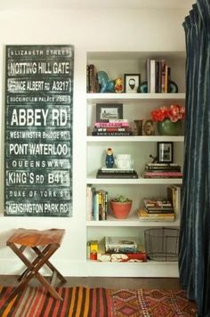 bookshelf styling #PinToWin #Anthropologie