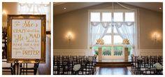 Ceremony room at Milestone Krum Wedding by brittanybarclay.com