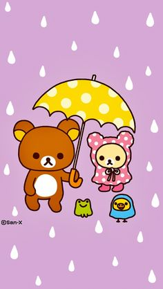 Rilakkuma Wallpaper, Sanrio Wallpaper, Kawaii Wallpaper, Cool Wallpaper, Best Quotes Wallpapers, Wallpaper Quotes, Cute Wallpapers, Cute Kawaii Drawings, Kawaii Cute