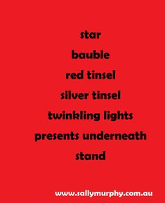 Write a Christmas tree poem