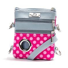 Unique handbag/waist bag tailored for dog owners, treat pocket, pooh bag holder, zip pocket in pink colour and ultimate stylish design