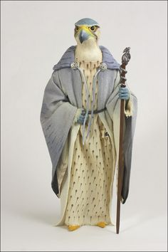 epoxy clay art doll   merlin this doll is mainly a product of my love of birds a merlin is a ...