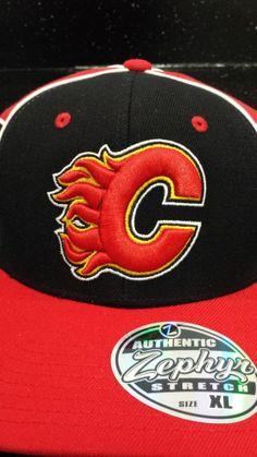 c023672ffc29d Calgary Flames NHL Zephyr Stretch Fitted Hat New With Tags  Zephyr   CalgaryFlames Calgary