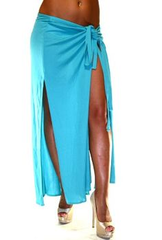 Dolce  Gabbana Beach Wrap Pareo Long Skirt Turquoise Style 24Q00212 Sizes P,S,L $44.95