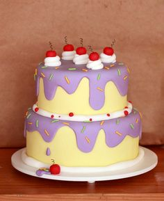 Such a cute cake! OMG!! Who would have ever thought something so simple would  adorable!!!