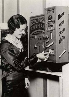 11.) This machine actually sold already lit cigarettes for a penny.