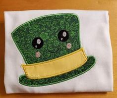 Clover St Patricks Day School Party Sisters Shamrock Girl with Glasses Applique Ruffle Style Short or Long Sleeve T-shirt