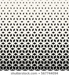 Abstract sacred geometry black and white grid halftone cubes pattern Geometric Pattern Design, Graphic Patterns, White Patterns, Textures Patterns, Print Patterns, Geometric Sleeve Tattoo, Sleeve Tattoos, Poster Background Design, Greek Paintings