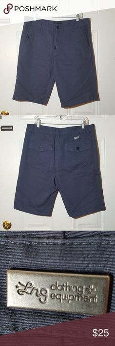LRG blue shorts size 34 Men's LRG shorts Size 34  2 side pockets and 2 back pockets with buttons. Excellent condition. Lrg Shorts