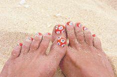 Beach Beauty: Cherry Blossom Toes   Goldfish Kiss