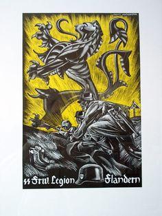 "SS Waffen ""Langemarck"" The Flemish Legion ,propaganda poster"