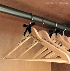 DIY Personalized Wood Hangers