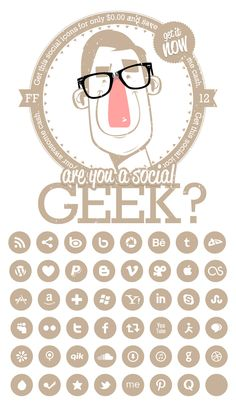 Are you a social geek? Socialico is a package of 74 social media icons, combined within a single wieght font and designed by Jelio Dimitrov a.k.a. Arsek.