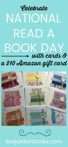 Celebrate National Read a Book Day with Cards & a Giveaway! | Lisa Jordan Books