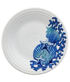 From Fiesta&& this coastal plate featuresCeramicCoastal shells decalDishwasher&& oven and microwave safeFully vitrified lead& china with a color glazeApprox& in the USA& Cheap Beach Decor, Color Glaze, Homer Laughlin, Classic Collection, Nautical Theme, Nautical Wedding, Made In America, Dinner Plates, Sea Shells