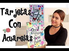 Como hacer tarjetas con acuarela - Mayra Alejandra - YouTube
