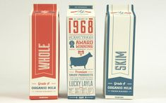 Lucky Layla Farms Packaging, graphic design and  typography  by Jay Ressler Design for the brand identity of Lucky Layla Farms. Lucky Layla Farms - Milk Pa