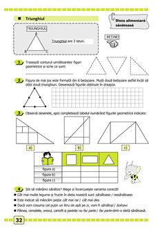 Clasa a II-a : Matematică și explorarea mediului. Clasa a II-a. Partea II - (E1) Math For Kids, Activities For Kids, Places To Visit, School, Geometry, Children Activities, Kid Activities, Petite Section, Kid Crafts