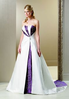 wedding dress with purple back... but Orange instead of purple