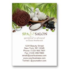 Day spa massage aromatherapy appointment card card templates customizable spa and massage salon business card template spa massage salon cheaphphosting Image collections