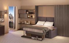240-sq-ft Hotel Micro-Suite Will Invite Visitors Inside to Try Out Transforming Furniture | Inhabitat   From Resource Furniture