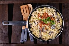 Gombás, baconos, tejszínes tészta Paella, I Foods, Food Photography, Ethnic Recipes, Blog, Blogging
